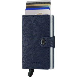 Modrá kožená peněženka s pouzdrem na karty Secrid Clip