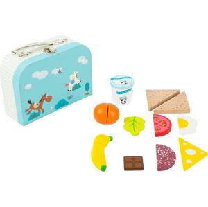 Dřevěný set dětského kufříku a potravin Legler Snack