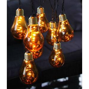 Oranžový světelný LED řetěz Best Season Glow, 10 světýlek