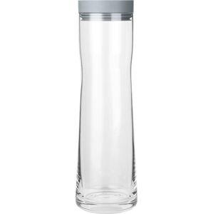 Skleněná karafa na vodu s šedým silikonovým víčkem Blomus Aqua,1l