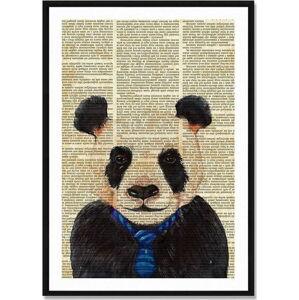 Zarámovaný plakát Really Nice Things Newspaper Panda, 40x60cm
