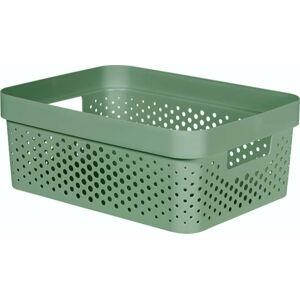 Zelený úložný košík CURVER Infinity Dots,11l