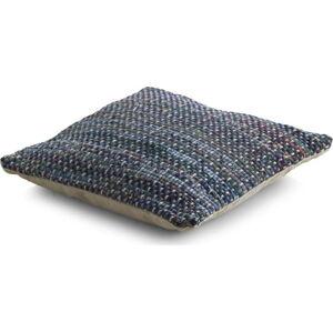 Modrý vzorvaný polštář s výplní Geese Blues, 45x 45 cm