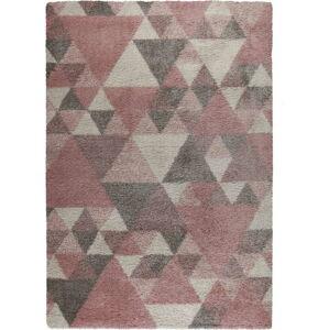 Růžovo-šedý koberec Flair Rugs Nuru, 160 x 230 cm