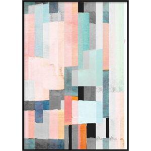 Plakát DecoKing Abstract Panels, 50 x 40 cm