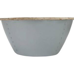 Šedý příruční stolek s deskou z mangového dřeva LABEL51 Indi, Ø80 cm