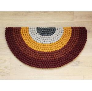 Dětský kuličkový vlněný koberec Wooldot Ball Rugs Rainbow Red