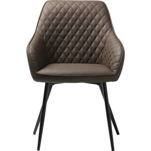Hnědá koženková jídelní židle Unique Furniture Milton