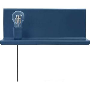 Modré nástěnné svítidlo s poličkou Homemania Decor Shelfie2