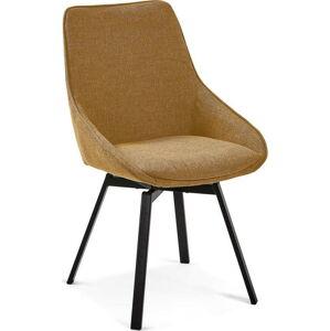 Hořčičně žlutá otočná židle La Forma Haston