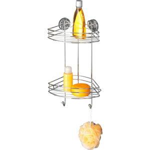 Samodržící rohová dvoupatrová polička Wenko Vacuum-Loc, nosnost až33kg