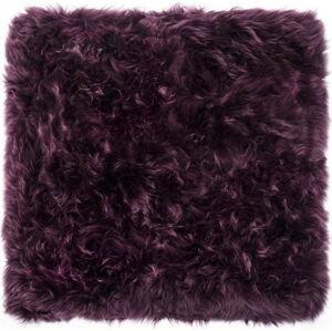 Fialový koberec z ovčí kožešiny Royal Dream Zealand Square, 70x70cm