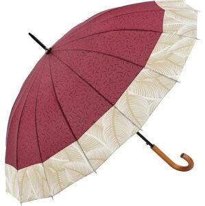 Vínově červený holový deštník Ambiance Tropical, ⌀105cm
