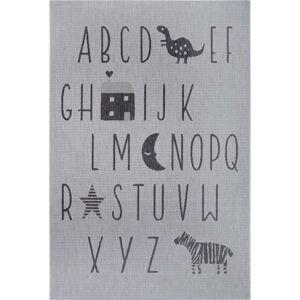 Šedý dětský koberec Ragami Letters, 80 x 150 cm