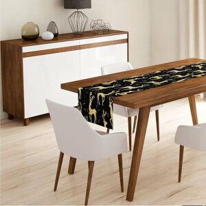 Běhoun na stůl Minimalist Cushion Covers Deer Gold, 140 x 45 cm