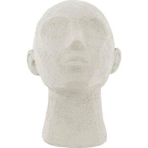 Slonovinově bílá dekorativní soška PT LIVING Face Art, výška 22,8 cm