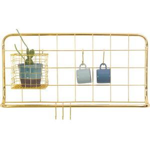Nástěnný organizér ve zlaté barvě PT LIVING Open Grid