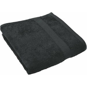 Černý ručník Tiseco Home Studio, 50 x 100 cm