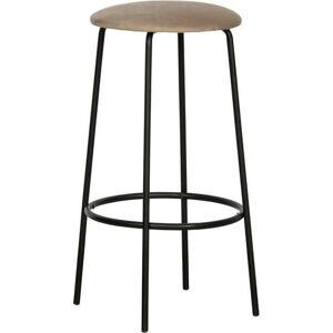Šedá barová židle WOOOD Mina