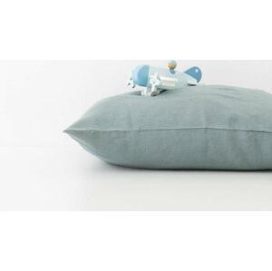 Dětský modrý lněný povlak na polštář Linen Tales Nature,40x60cm
