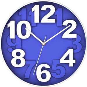Modré nástěnné hodiny Postershop Eve,ø30cm
