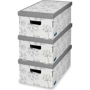 Sada 3 úložných boxů Domopak Flower