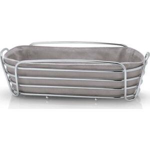 Košík na pečivo s šedou bavlněnou vložkou Blomus Delara, šířka32cm