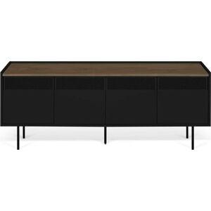 Černý televizní stolek TemaHome Radio, 160 x 60 cm