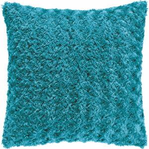 Tyrkysově modrý polštář Tiseco Home Studio Curl, 45 x 45 cm