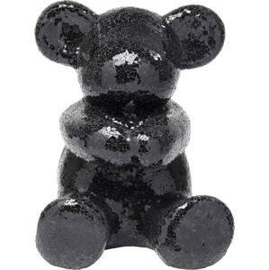 Černá dekorativní soška medvídka Kare Design Teddy Bear Hug