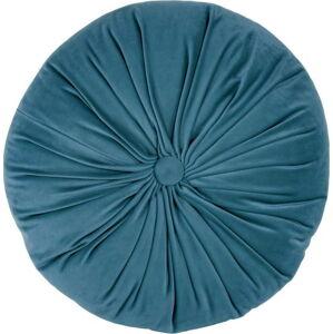 Modrý sametový dekorativní polštář Tiseco Home Studio Velvet,ø38cm
