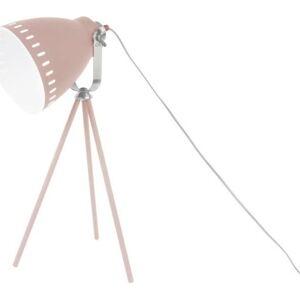 Růžová stolní lampa Leitmotiv Tristar
