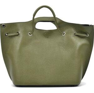 Světle zelená kožená kabelka Mangotti Bags
