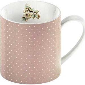 Růžový porcelánový hrnek s puntíky Creative Tops Cottage Flower, 330ml