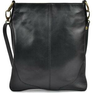 Černá kožená kabelka Mangotti Pasca