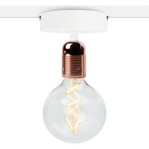 Bílé stropní svítidlo s měděnou objímkou Bulb Attack Uno Basic
