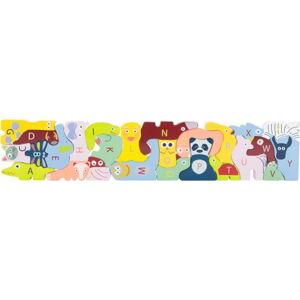 Dětské dřevěné puzzle Legler ABC
