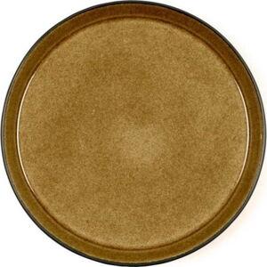 Okrově žlutý kameninový mělký talíř Bitz Mensa, průměr 27 cm