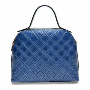 Modrá kožená kabelka Mangotti Bags