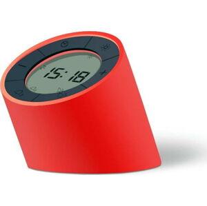 Červený budík s LED displejem Gingko Edge