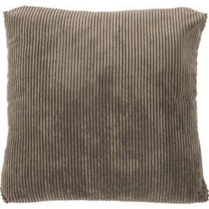 Hnědý dekorativní polštář Tiseco Home Studio Ribbed,60x60cm