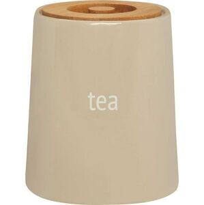 Krémová dóza na čaj s bambusovým víkem Premier Housewares Fletcher, 800 ml