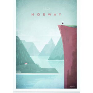 Plakát Travelposter Norway, A2