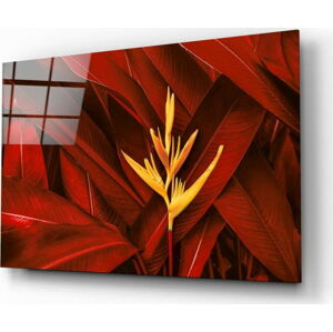 Skleněný obraz Insigne Red Leaves, 72 x 46 cm