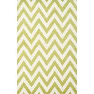 Vlněný koberec Safavieh Stella Grass Green, 274 x 182 cm