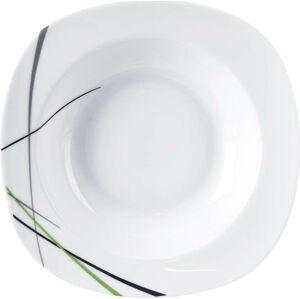 Bílý porcelánový hluboký talíř Orion Green
