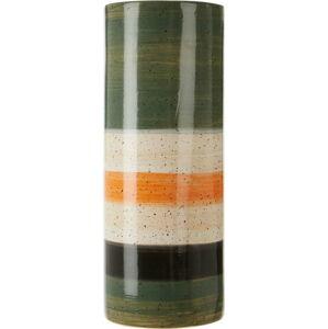 Zeleno-bílá váza z kameniny Premier Housewares Sorrell,výška40cm
