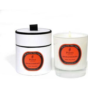 Svíčka s vůní citrusů a jantarové růže Amber Parks Candles London, 50 hodin hoření