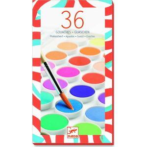 Sada 36 vodových barev Djeco Maxi
