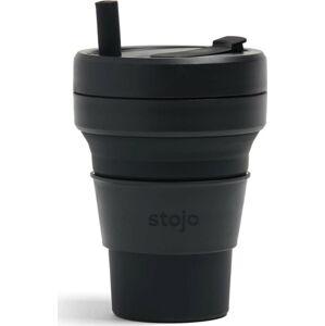Černý skládací hrnek Stojo Biggie Ink, 470 ml